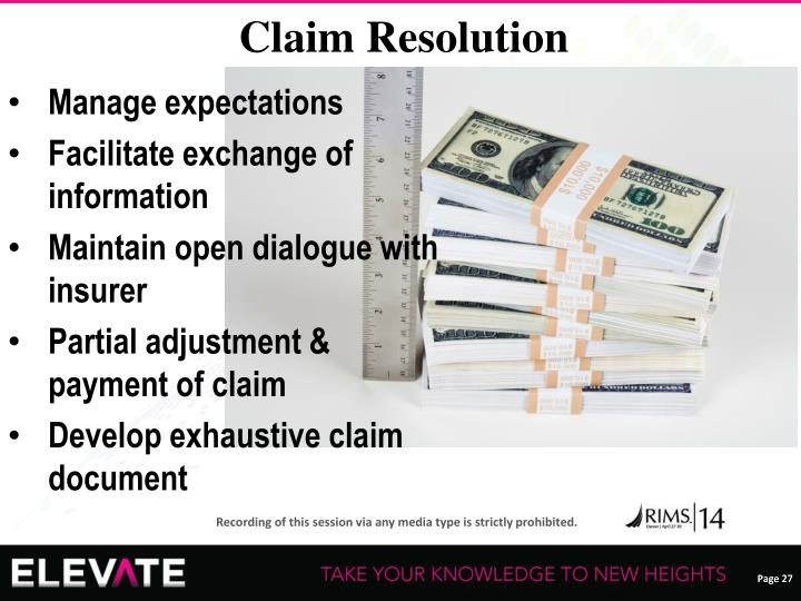Claim Resolution