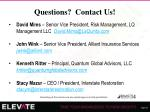 questions contact us