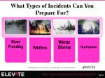 what types of incidents can you prepare for