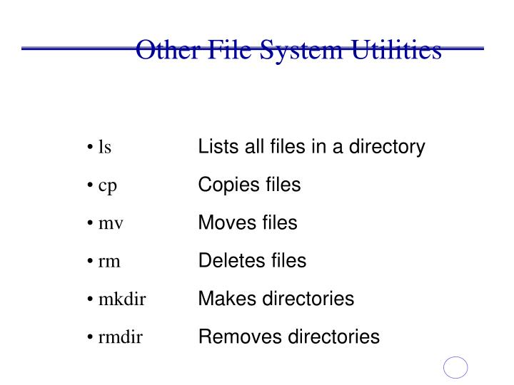 Other File System Utilities