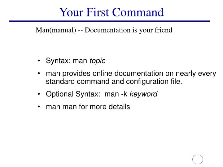 Your First Command