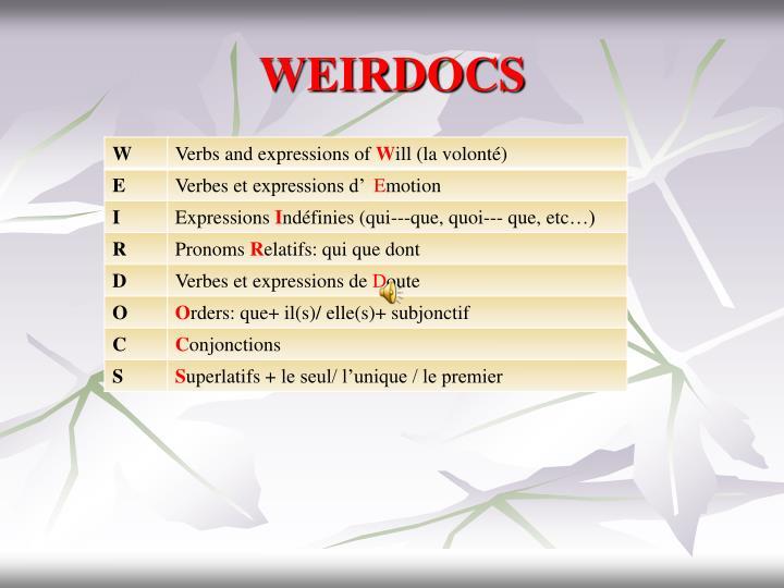 WEIRDOCS