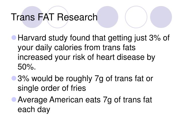 Trans FAT Research