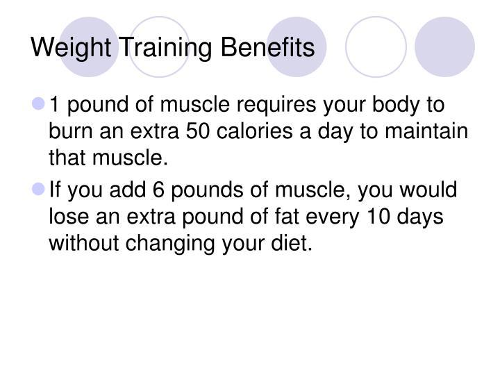 Weight Training Benefits