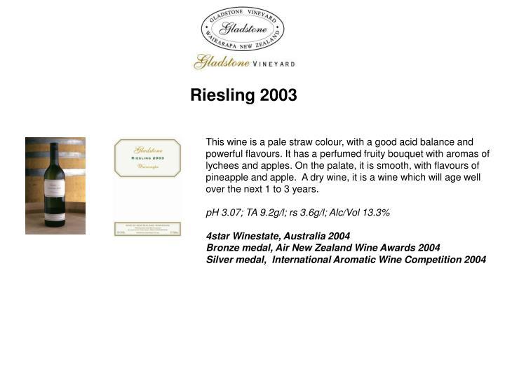 Riesling 2003