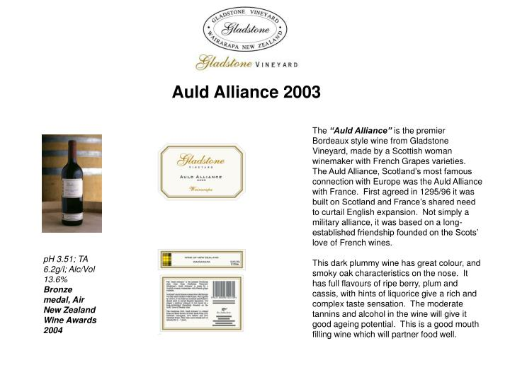 Auld Alliance 2003