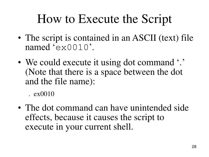 How to Execute the Script