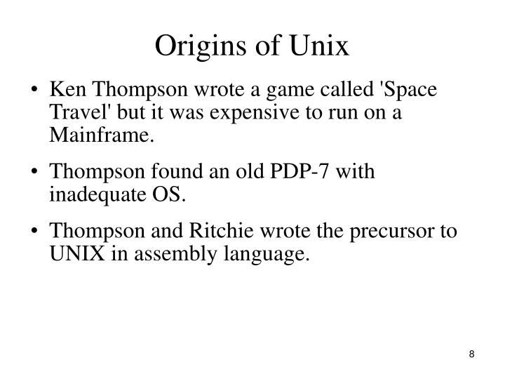 Origins of Unix