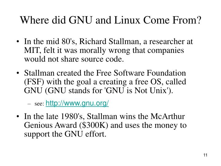 Where did GNU and Linux Come From?
