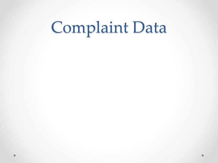 Complaint Data