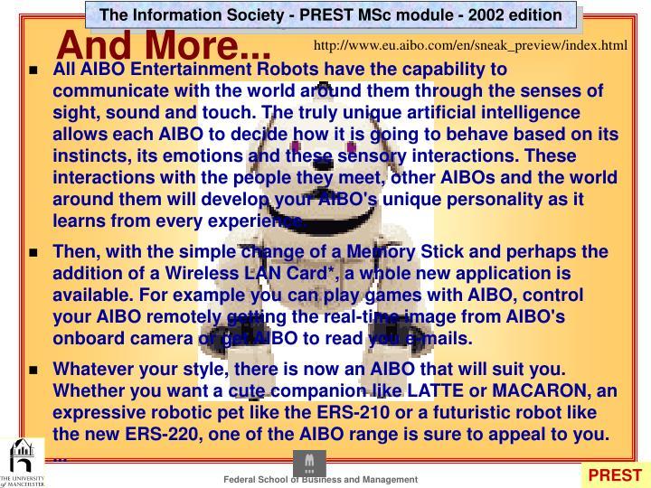 http://www.eu.aibo.com/en/sneak_preview/index.html
