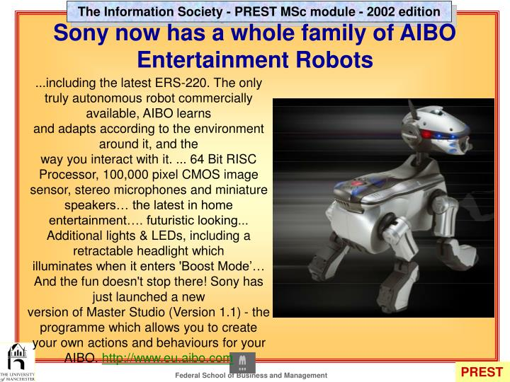 Sony now has a whole family of AIBO