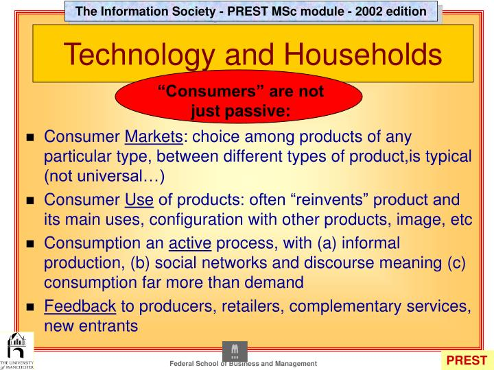 Technology and households