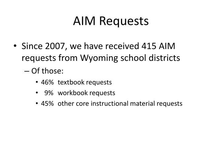 AIM Requests
