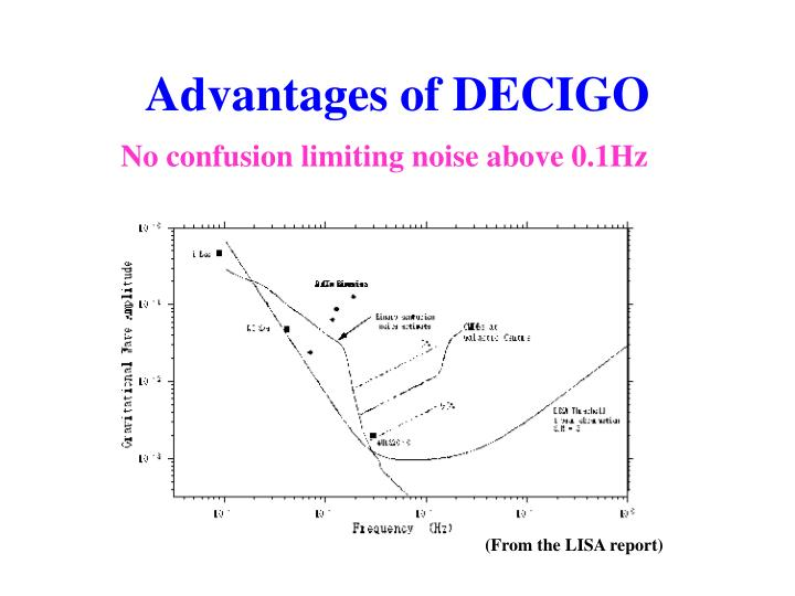 Advantages of DECIGO