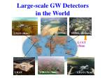 large scale gw detectors in the world