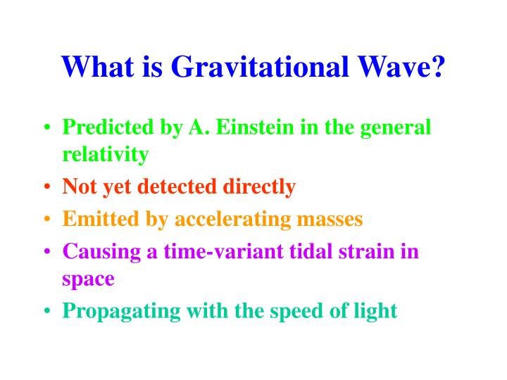 What is Gravitational Wave?