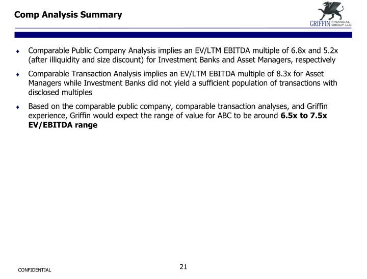 Comp Analysis Summary