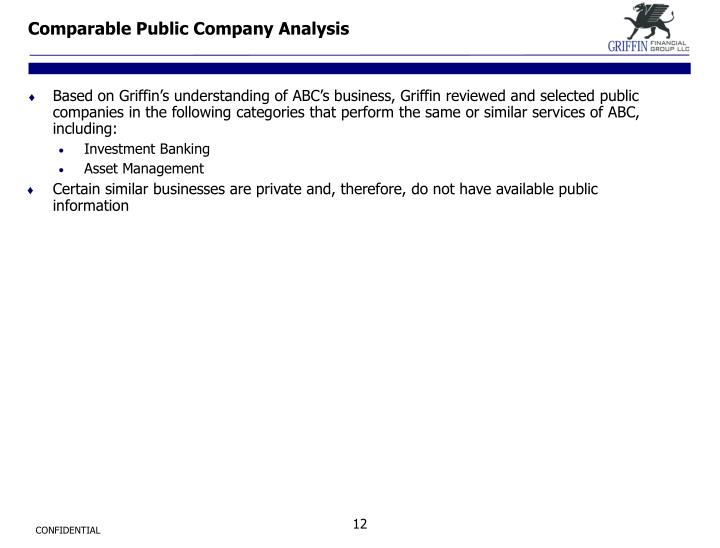 Comparable Public Company Analysis