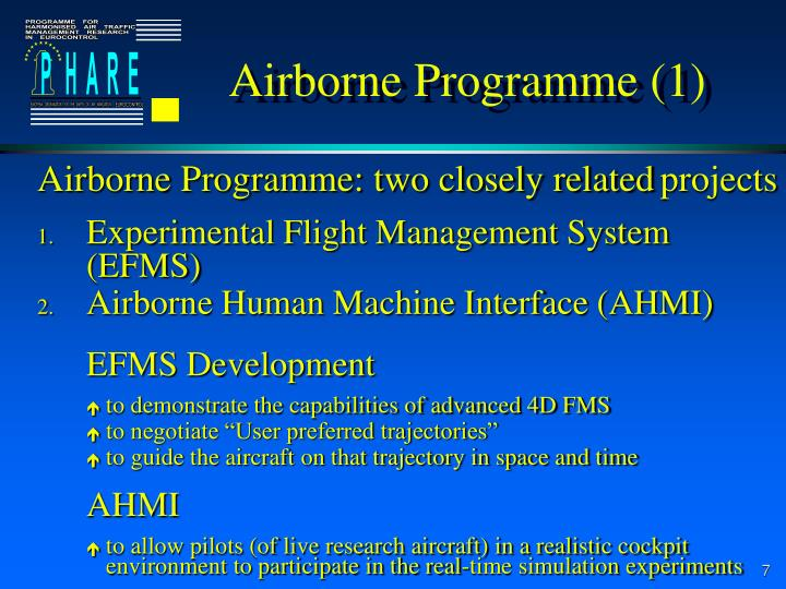 Airborne Programme (1)