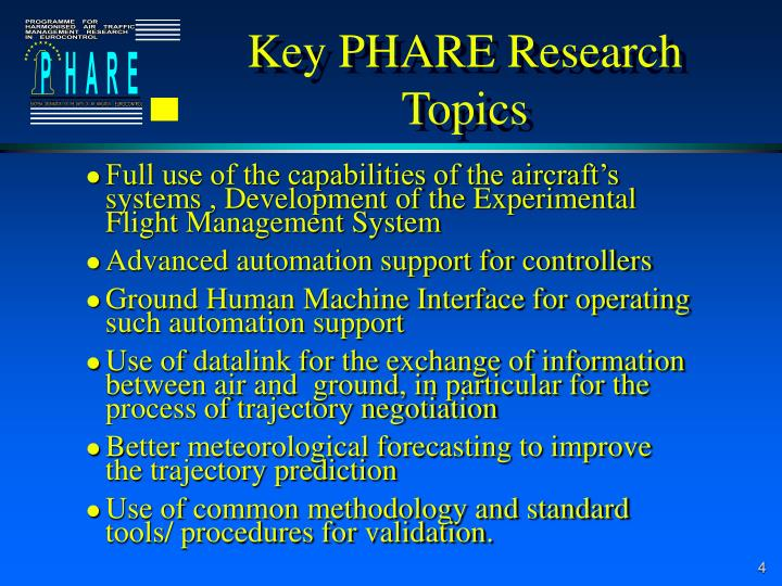 Key PHARE Research Topics