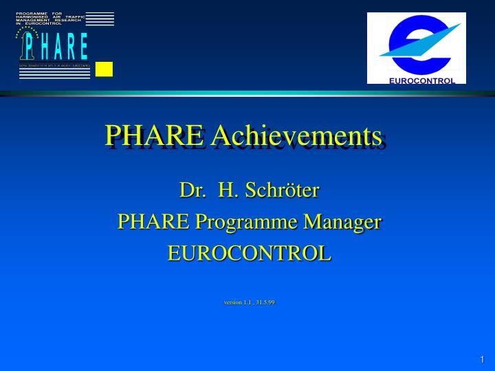 Phare achievements