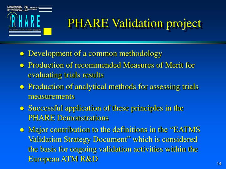 PHARE Validation project