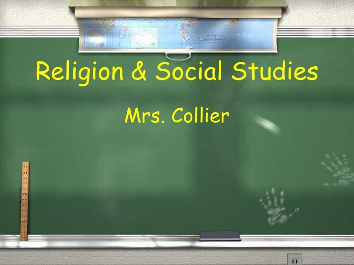 Religion & Social Studies