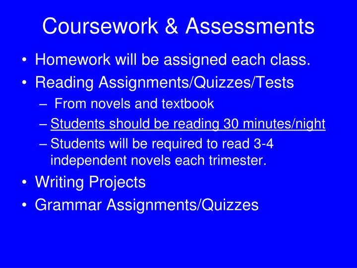Coursework & Assessments