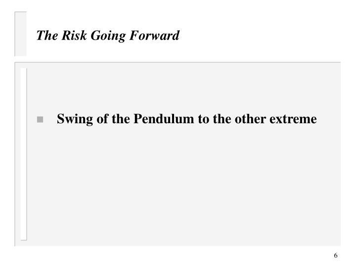 The Risk Going Forward