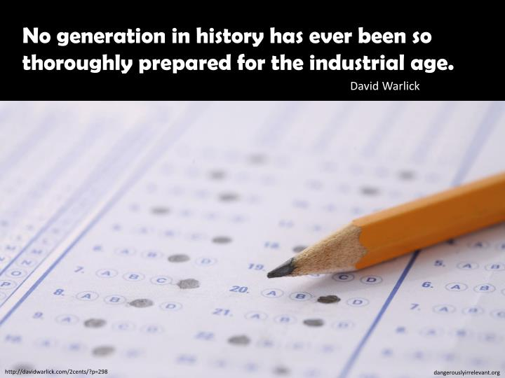 No generation in history has ever been so