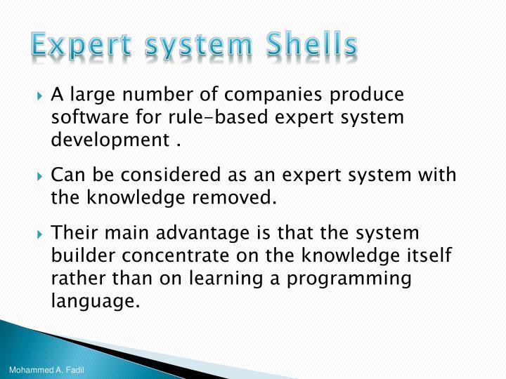 Expert system Shells