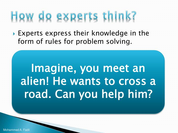 How do experts think?