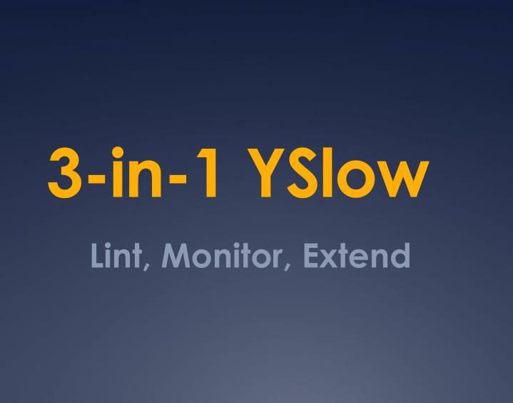 3-in-1 YSlow