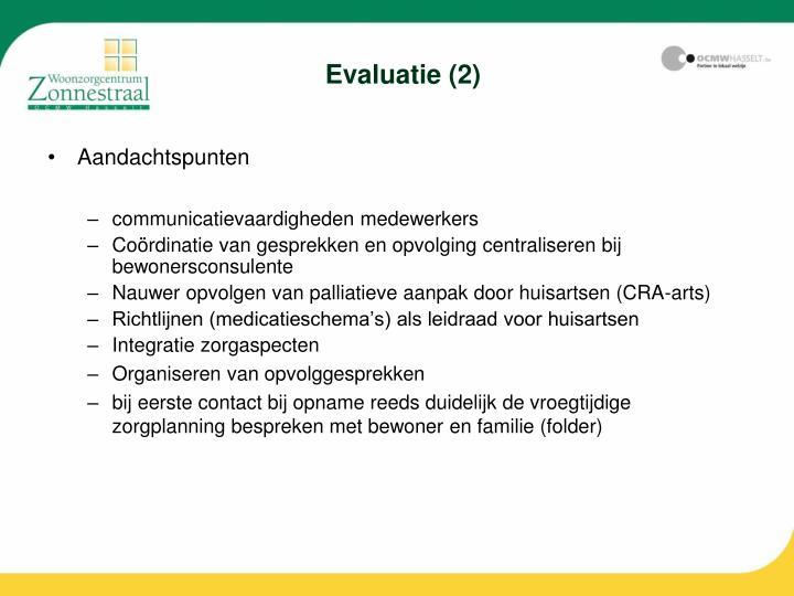 Evaluatie (2)