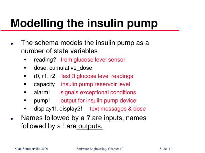 Modelling the insulin pump