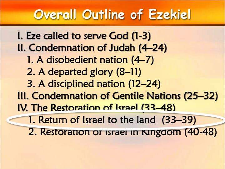 Overall Outline of Ezekiel