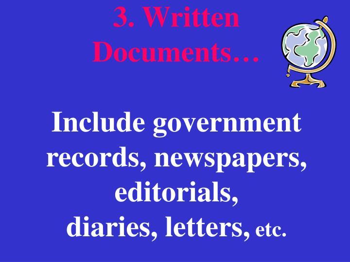 3. Written      Documents…