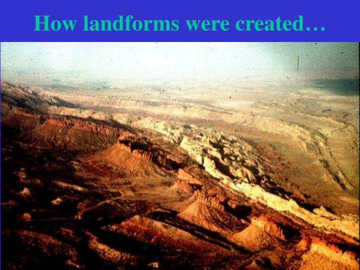 How landforms were created…