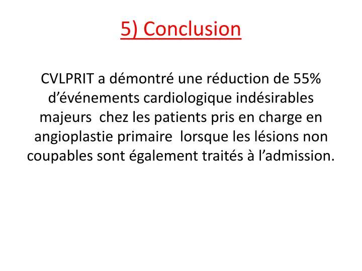 5) Conclusion