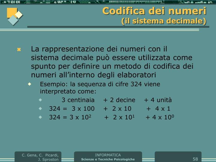Codifica dei numeri