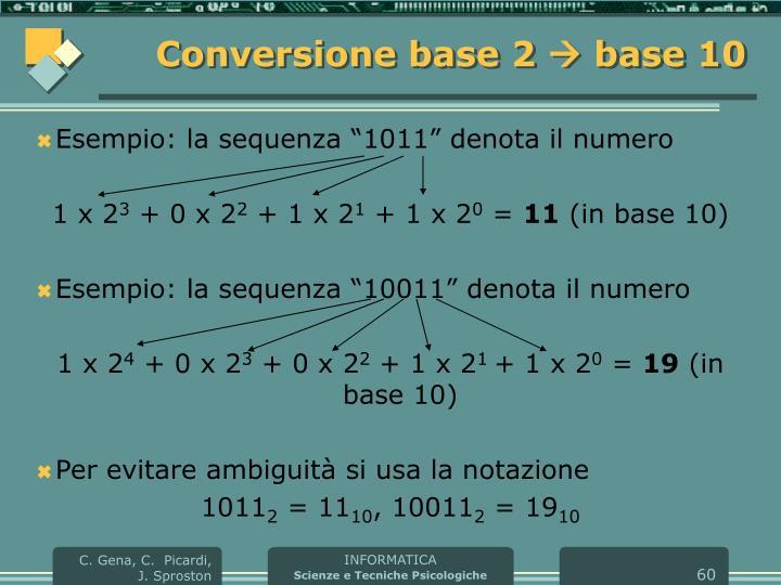 Conversione base 2