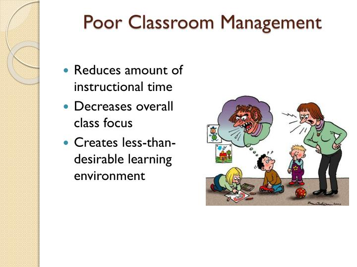 Poor Classroom Management