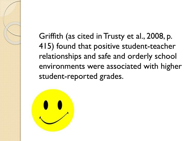 Griffith (as cited in Trusty et al., 2008,
