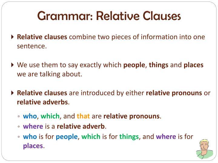 Grammar: Relative Clauses