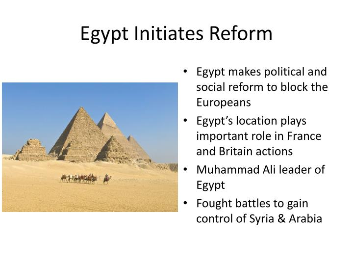 Egypt Initiates Reform