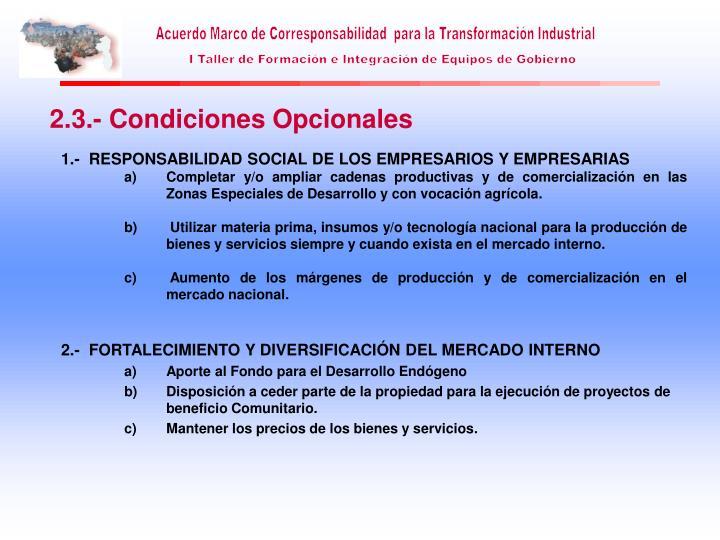 1.-  RESPONSABILIDAD SOCIAL DE LOS EMPRESARIOS Y EMPRESARIAS