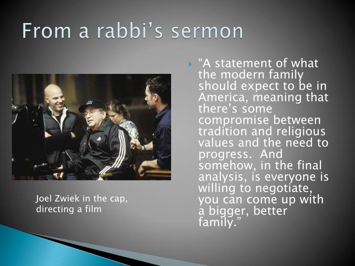 From a rabbi s sermon