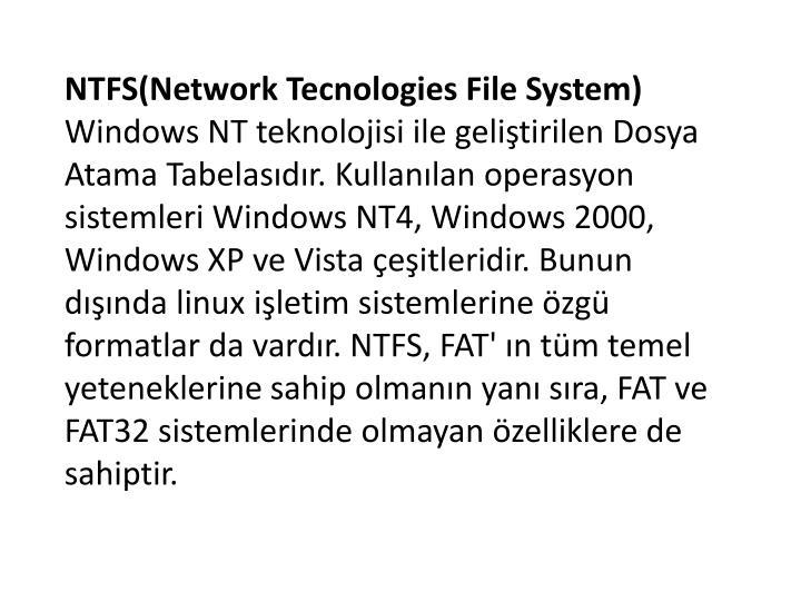 NTFS(Network