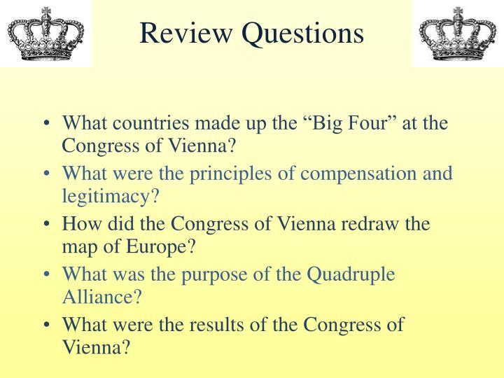 congress of vienna essay questions